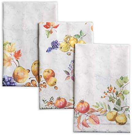 Maison d Hermine Fruit d hiver 100 Cotton Set of 3 Multi Purpose Kitchen Towel Soft Absorbent product image