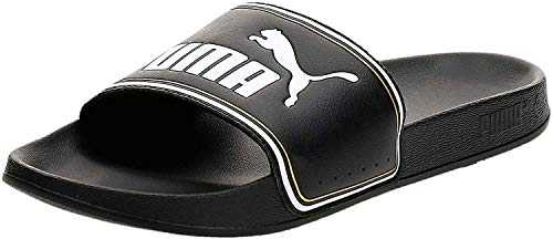 PUMA Leadcat FTR, Zapatos de Playa y Piscina Unisex Adulto, Negro Black Team Gold White, 44.5 EU