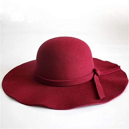 SJIUH Sunhat Retro Classic - Sombrero para mujer, diseño retro, color rojo