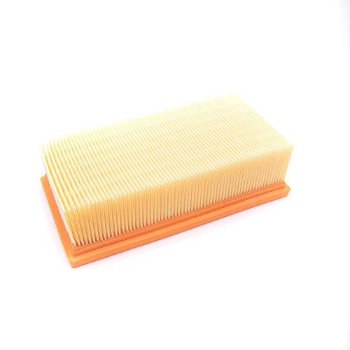 vhbw Flachfalten-Filter passend für Staubsauger, Saugroboter, Mehrzwecksauger Kärcher 2000E, 2000TE, 3500, 3500E, 3501, 3501E, A2001, K2000E, K2000TE