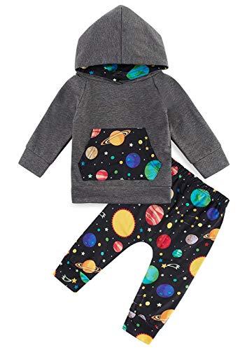 Kids4ever Baby Babykleidung Warme Kapuzenpullover Bekleidungsset 3D Lustig Druck Kapuzenoberteile and Hose für 0-6 Monat Kleinkinder