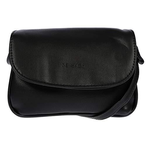 New Bags Kleine Damen Handtasche/Ausgehtasche Abendtasche Discotasche (schwarz)