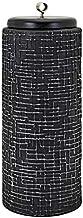 Imax 95953 Hasan Large Lidded Vase Black