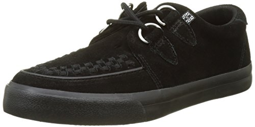 T.U.K. Unisex-Erwachsene VLK D Ring Creeper Sneaker Black Suede High-top, 38 EU
