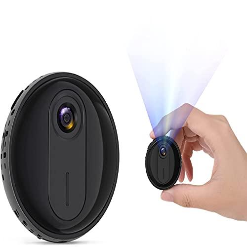 Mini Caméra, Caméra de Surveillance de Voiture sans Fil Full HD 1080P avec Fonction de Vision Nocturne et de Détection de Mouvement, Mini Caméra pour la Maison et Le Bureau