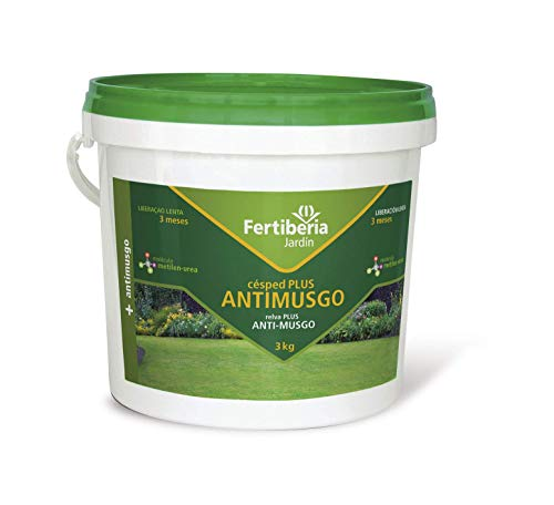 Fertiberia Césped Plus Antimusgo Abonos sólidos, Color parduzco