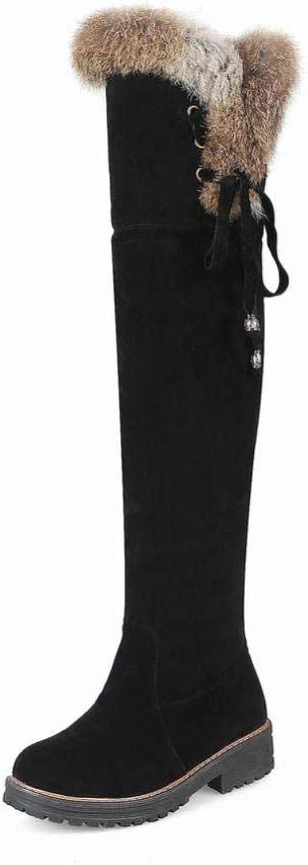 XZ Damen Stiefel - Herbst Und Winter Warme Damen Stiefel Flache Niedrige Ferse Stiefel   36-43