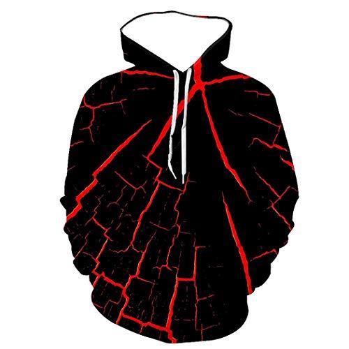 Sudadera con Capucha De Manga Larga Unisex, Línea Roja Sangre Patrón Abstracto Jersey De Impresión Digital 3D, Moda Fresca Personalidad Prendas De Vestir Bolsillos Grandes
