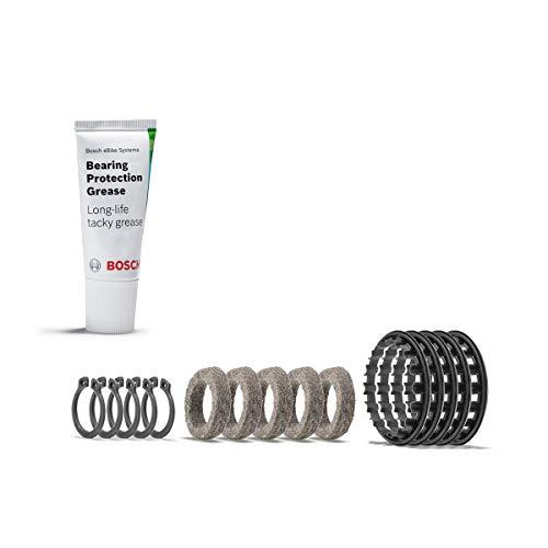 Bosch Lagerschutzring, zur Abdeckung der Lagerstelle der Drive Unit, 5 Lagerringe inkl. Fetttube Service-kit, transparent, 75 ml