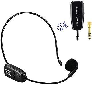 2.4G Wireless Microphone Headset Mic For Voice Amplifier,Speaker, Karaoke, Computer, Teaching, Meeting,Yoga, Singing