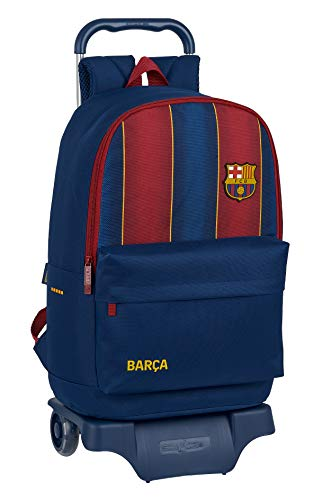 Safta 612029313 Mochila grande ruedas, carro, trolley FC Barcelona