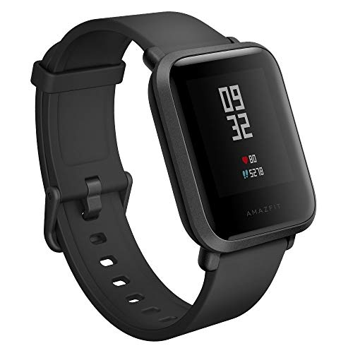 Amazfit Bip Smartwatch Monitor de actividad Pulsómetro Ejercicio Fitness Reloj deportivo (Versión Internacional) Negro/Black (Reacondicionado)