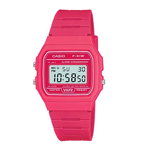Reloj casio digital fucsia orologio Donna F-91WC-4AEF