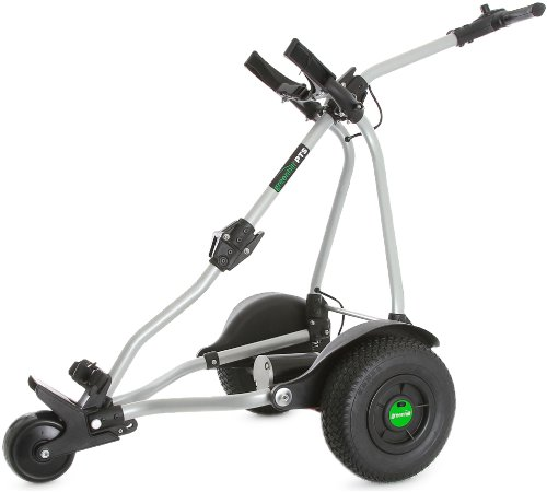 GreenHill PTS (Bremse), elektrische Golftrolley Lithium Silber Silber 18 Hole Battery