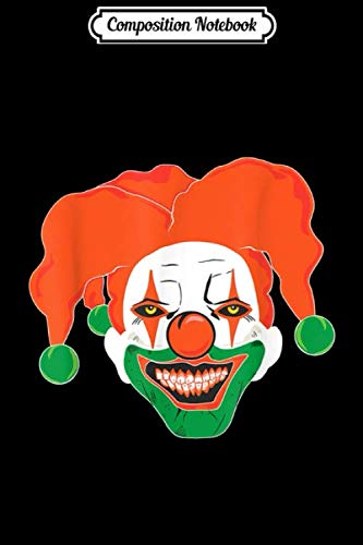 Composition Notebook: Irish Scary Killer Clown Halloween Costume Evil Horror Movie Journal/Notebook Blank Lined Ruled 6x9 100 Pages