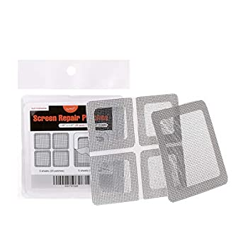 by.RHO Window and Door Screen Repair Patch kit 25 Patches  1⅞  x 1⅞  x 20pcs   3½  x 3½  x 5pcs