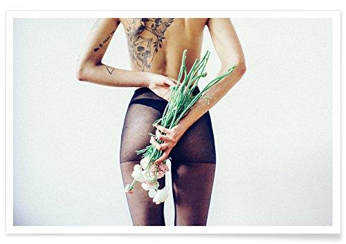 """JUNIQE® Erotisch Poster 20x30cm - Design """"Flowers and Tights 1"""" entworfen von Chris Abatzis"""
