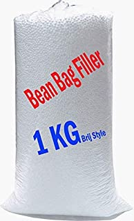 Brij Style A-Grade Bean Bag Filler 1 Kg | Bean Bag Refill for Bean Bags
