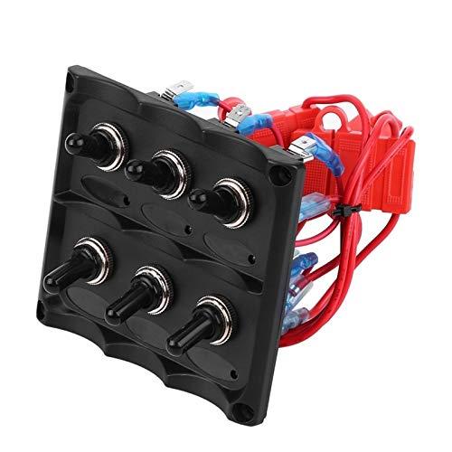 MINGDIAN FH Panel De Interruptor Impermeable 12V-24V Coche Barco MarineToggle Panel De Interruptor Fusible + Luz LED para Remolque De Automóvil Barco Yate