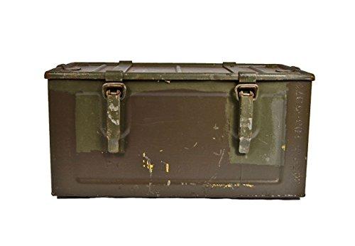 Unbekannt 2er Set Munitionskiste Indochina Oliv gebraucht 48 x 25 x 24,5 Werkzeugkiste Metallkiste Metallbox 32,48€/Stück
