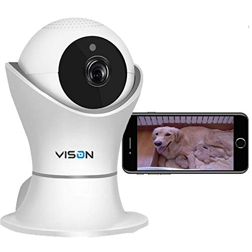 FullHD 1080p WiFi Home Security Camera Pet Camera Wireless IP Indoor Surveillance System Pan/Tilt/Zoom with 2 Way Audio Night Vision Motion Detection Remote Baby Monitor iOS/Android