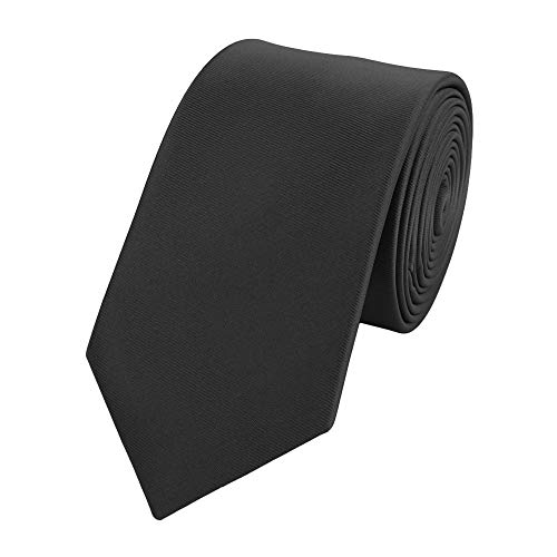 Fabio Farini - Cravates, nœuds papillons et mouchoirs attrayants et élégants pour la robe à cravate noire code noir cravate noir uni