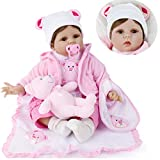 """ZIYIUI 22"""" 55 cm Reborn bebé Muñecas Niña Bonita Suave Vinilo Silicona Muñeca Reborn Muñecos bebé Niños Juguetes Regalo de cumpleaños"""
