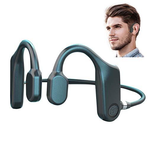 LVOD 2021 Fone de ouvido com fone de ouvido de condução óssea Touch Fone de ouvido Bluetooth Fone de ouvido sem fio TWS Sport Fone de ouvido à prova d'água