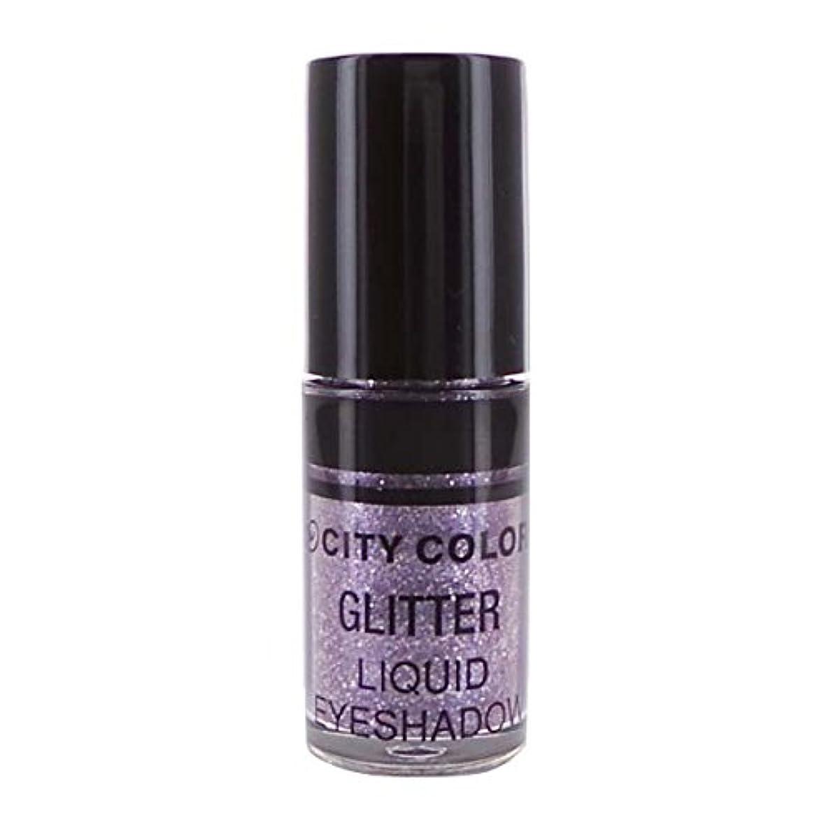 より平らなインディカ保証CITY COLOR Hi-Shine Glitter Liquid Shadow - Lilac (並行輸入品)