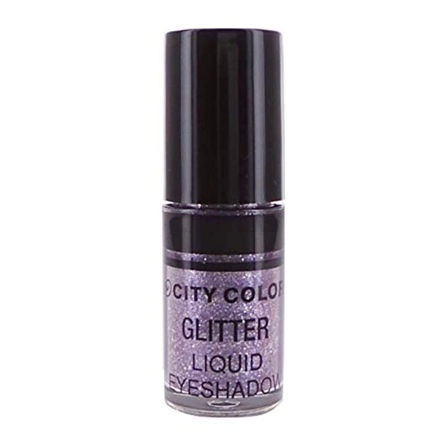 岸なんでも恥ずかしいCITY COLOR Hi-Shine Glitter Liquid Shadow - Lilac (並行輸入品)
