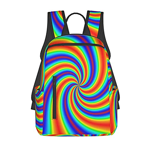 NiYoung School Daypack Backpack, Big Capacity Daypack for Camping Outdoors Walking Cycling, Tie Dye Travel and Sport Backpack Rucksack for Men Women Girls Boys