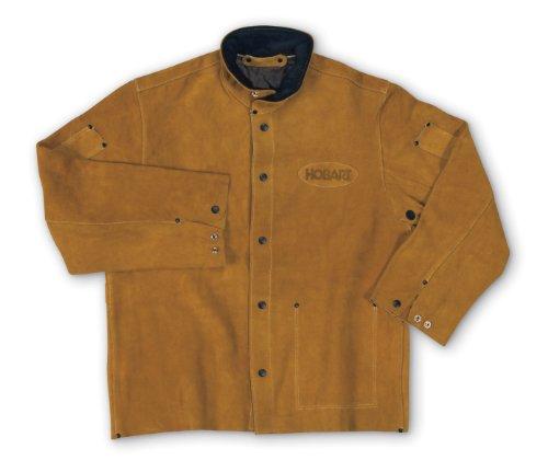 Hobart 770664 Genuine Split Cowhide Welding Jacket, Medium