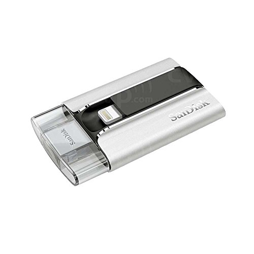SanDisk iXpand Flash-Laufwerk 32GB, mobile Speichererweiterung für iPhone, iPad und Mac
