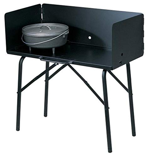 "Lodge A5-7 Camp Cooking Table, 26""x16""x32"" Black Image"