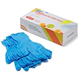 ZOMCHAIN Nitrile Gloves Kids Gloves Disposable, Nitrile Gloves for 4-10 Years - Latex Free, Food Grade, Powder Free - for Kids Festival Preparation, Crafting, Painting, Gardening, Cooking, Cleaning (100pcs, XS)