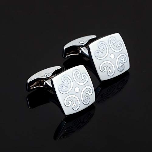 jiao Style Weiße Blume Emaille Manschettenknöpfe Für Herren Shirt Markenanzug Manschettenknöpfe Manschettenknöpfe Schmuck