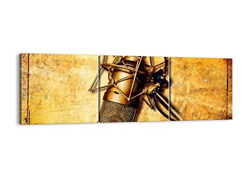 Quadro su Tela - Tre 3 Tele - Larghezza: 120cm, Altezza: 40cm - Numero dell'immagine 0525 - Pronto da Appendere - Completamente incorniciato - Elementi Multipli - CA120x40-0525