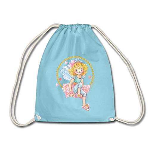 Spreadshirt Prinzessin Lillifee sitzend Turnbeutel, Aqua