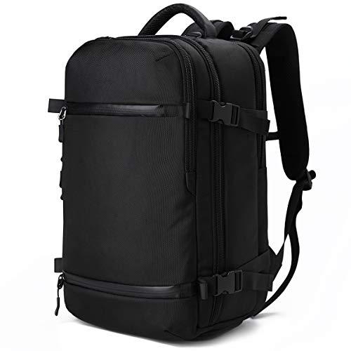 ビジネス リュック 大容量 防水 多機能 リュックサック 旅行 17.3 インチ PC バッグ ラップトップ バックパック アウトドア レインカバー付 USBポート(S17-01 黒)