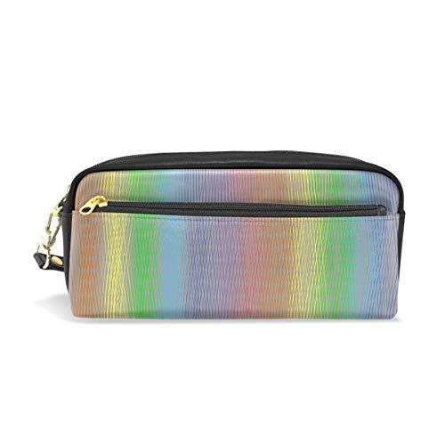 Mnsruu Trousse, Rainbow Couleur Grande capacité Pen Sac Maquillage Outil Sac avec compartiments pour filles garçons