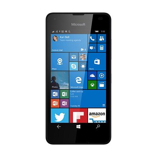 Microsoft Lumia 550 Smartphone mit 11,9cm (4,7Zoll), 1GB RAM, 8GB, Windows 10, Schwarz