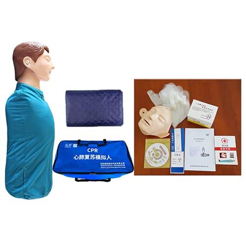 JSBVM Simulador De Reanimación Cardiopulmonar, Medio Cuerpo CPR Manikin Kit Adulto Profesional...