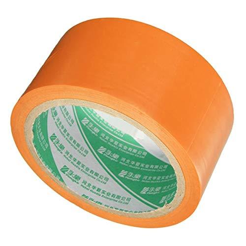 PIKA PIKA QIO PVC-Rolle Selbstklebendes Warnband Dekorative Band 18m x 48mm Verpackungs Band (Farbe : Orange)