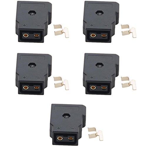 B Blesiya Conectores Macho Y Hembra ABS D-Tap de 5 Piezas para Cámaras BMCC, BMPC