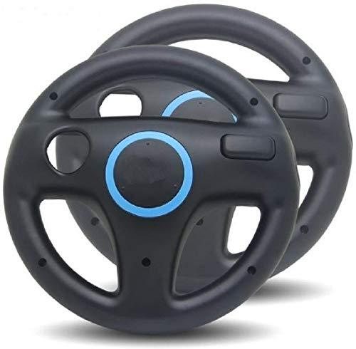 Link-e - Lote de 2 volantes compatibles con mando Wiimote sobre consola Nintendo Wii / Wii-U (negro)