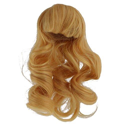 Sharplace Puppenperücke Haarteil Für 1/4 BJD SD Puppen DIY Zubehör - Blond