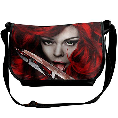 JONINOT Bolsos de Hombro Rojos Sonja Crossbody Business Slim Commute Travel out-Going Cosmetics Sling Bag