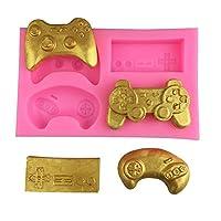 ゲームコントローラー シリコーン型 ミニ シリコン ビデオゲームパッド 型 キャンディ チョコレート ケーキ カップケーキ デコレーション用 樹脂粘土 1個