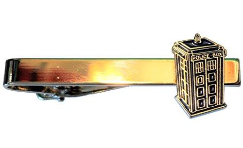 Pince à cravate « Tardis » en émail et métal, cabine de police à voyager dans le temps, de Doctor Who, thème Science-Fiction