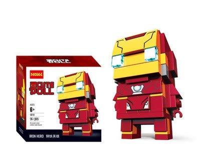 CuteDoll Figura de Ironman 2 de los Vengadores Avengers Endgame Puzzle Juego Bloques de construccion tamaño 9 cm DIY Mini Building Puzzle Juguete niños colección